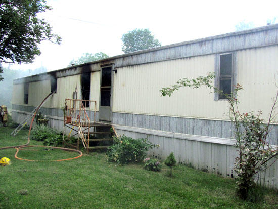 Burned At Granny: Mobile Home Fire Investigated