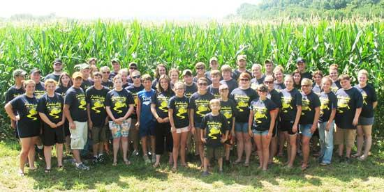 2010-2011 FFA Officer Team On The Move