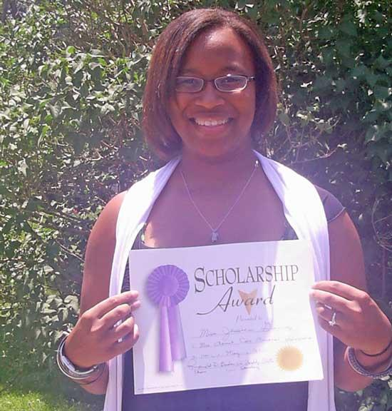 Miss Jessica Gaines Awarded Mrs. Annie Cox Memorial Scholarship