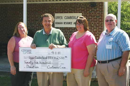MTE Customers Care Donates To Cannon County UCHRA