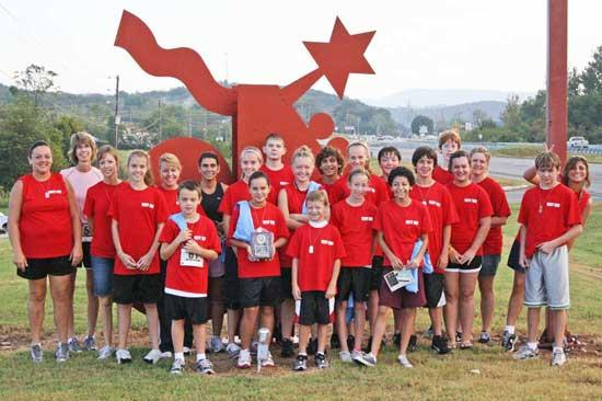West Side Ponage Race Team Wins Trophy