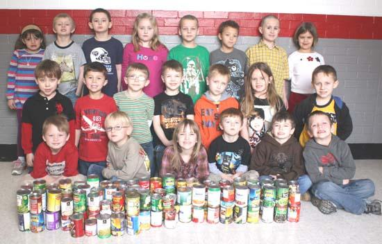 West Side Kindergarten Collects 100 Cans Of Food