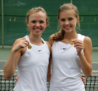 CCHS Girls Win District Doubles Title