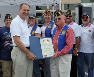 Col. Stone Presented Certificate Of Appreciation