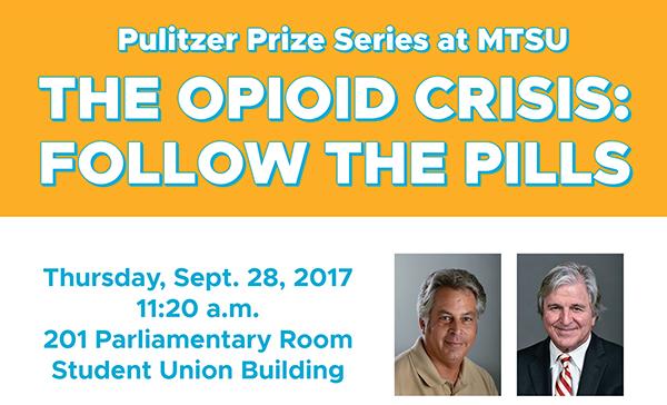 Pulitzer winner examines nation's opioid addiction crisis Thursday