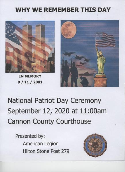 Patriot Day Ceremony Moved To Courthouse September 12